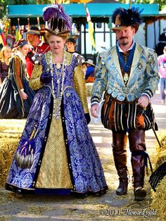 Queen Elizabeth and the Earl of Leciester - Queens Show Northern California Renaissance Faire.