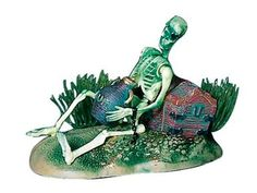 Action Air® Pirate Skeleton w/Jug & Treasure Chest Live-Action Aerating Aquarium Ornament
