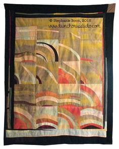 'Prosperity' an improv patchwork quilt top,  © Stephanie Boon, 2015 www.DawnChorusStudio.com