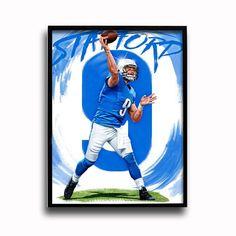 Detroit Lions Matthew Stafford Going Deep 24x18 Football Poster