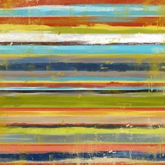 Colorful Strokes Canvas Print I