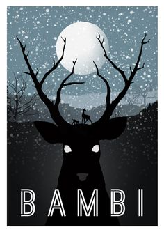 Alternative movie poster for Bambi  Incredible designer posters reimagine 'Robocop,' 'Blade Runner,' and more   The Verge