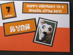 Football mad and colour orange loving child