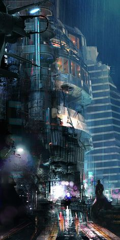 MTL Writer, daydreamer and resident cyberpunk. The brain that collates this visualgasm also assembles words into post-cyberpunk dystopia: my. Arte Cyberpunk, Cyberpunk City, Ville Cyberpunk, Futuristic City, Sci Fi Fantasy, Fantasy World, Art Science Fiction, Sf Wallpaper, Sci Fi City