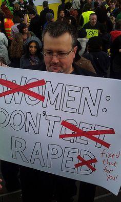 James' Protest Sign for SlutWalk Melbourne by Ameel Khan