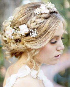 Coiffure mariage : {Bridal Hair} 25 Wedding Upstyles and Updos Wedding Hair And Makeup, Wedding Beauty, Dream Wedding, Hair Makeup, Hair Wedding, Wedding Braids, Perfect Wedding, Forest Wedding, Garden Wedding