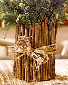 Coffee Can Twig Flower Vase