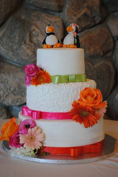 Cake Appeal Penguins Wedding Cake