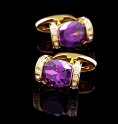 KFLK luxury shirt cufflink for women hot Brand cuff button Purple Crystal cuff link High Quality Gold abotoadura Jewelry Business Formal Women, Cufflink Set, Silver Buttons, Women Brands, Silk Ties, Jewelry Accessories, Fashion Jewelry, Crystals, Buttons