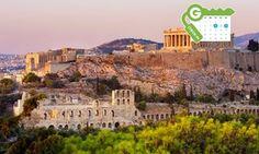 Groupon - Athene: verblijf met dagelijks ontbijt en een fles wijn op de kamer + WiFi bij Hotel Achillion voor twee personen in Athens. Groupon-dealprijs: €54