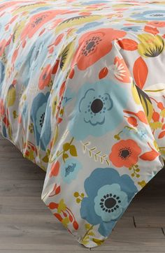 Nordstrom at Home 'Poppy' Duvet Cover available at #Nordstrom