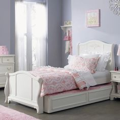 Liberty Furniture Arielle Sleigh Trundle Bed | from hayneedle.com
