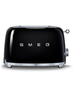 Curved and compact retro two wide-slot toaster created from designs realized in…