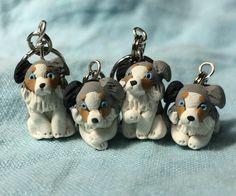 polymer clay stitch markers, knitting needles, and more by weeones Dog Lover Gifts, Gift For Lover, Dog Lovers, Dog Crafts, Diy Arts And Crafts, Miniature Dogs, Gold Paper, Knitting Accessories, Easy Knitting