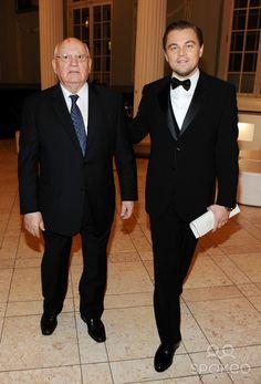 Mikhail Gorbachev and Leonardo DiCaprio Cinema for Peace gala at Konzerthaus at Gendarmenmarkt during the 60th Berlin International Film Festival (Berlinale).
