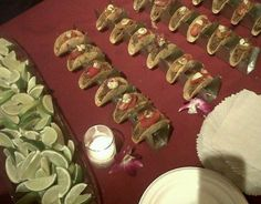 Food Network Chef/Judge Chris Santos of Stanton Social and Beauty & Essex in NYC, needed an efficient method to display in a catering form, at a NYC Bid Against Hunger event. Our Chef Series Mini Six Shooters, provided the answer he looked for. A beautiful yet sanitary way for the guests to self serve their mini tacos, created by chef Santos. If your restaurant or catering services, need a proven taco server, visit... www.TacoRack.com and see what we are doing for the food world.