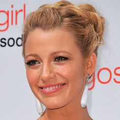 Hair Updos: The Easy-To-Copy Styles From The Red Carpet - Blake Lively with plaited hairstyle from InStyle.com