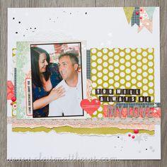 12x12 scrapbook layout. carta bella moments & memories collection. www.clairmatthews.com