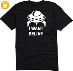 Black Dragon - T-Shirt Herren schwarz - I want to believe UFO - XXL - Shirts mit spruch (*Partner-Link)
