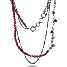 This delicate Leaf necklace is made in edgy oxidised silver with deep red garnets. The dainty chains and tiny leaf shapes lend this double stranded necklace a little boho-chique. We love the sultry red garnets and the gentle sparkle from the tine faceted beads. A great colourway for the festive season, but a piece that you will enjoy wearing year-round.
