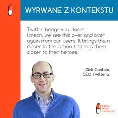 CEO Twittera, Dick Costolo o tym, co nam daje #Twitter.
