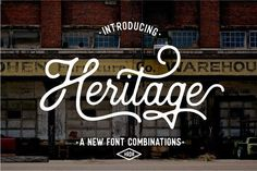 Awesome rustic, retro font here!  Heritage Font Combinations (20%Off) by Harder Type Foundry on @creativemarket