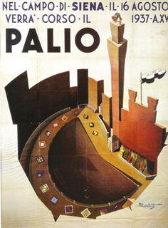 Palio di Siena - MANIFESTO DEL PALIO DEL 1937