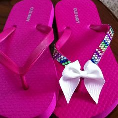 Decorated flip flops for my daughter