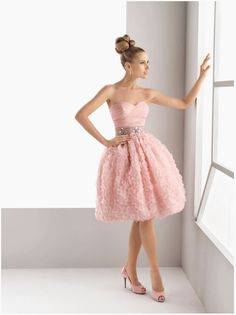 Party Dresses Occasion Dresses Sweetheart Short Pink