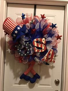 Fourth of July wreath made by me