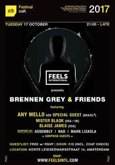 RA Tickets: Feels Intl & oaK Pres. Brennen Grey & Friends at oaK, Amsterdam