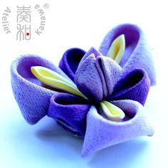 Ayame (Iris) Tsumami Kanzashi Clip from Atelier Kanawa -$44.99