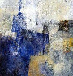 Michel Savattier - L'avancée bleue - Oil on canvas