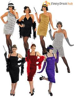 Ladies 1920s #flapper costume sexy womens 20's #charleston fancy dress #outfit,  View more on the LINK: 	http://www.zeppy.io/product/gb/2/400818502453/