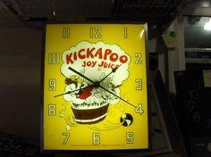 Kickapoo Joy Juice`1965`Advertising Working Clock`16`` x 13``->Rare->Free To US #KickapooJoyJuiceClock