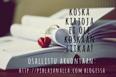 Pihlajan alla -blogin kirja-arvonta  http://www.pihlajanalla.com/the-overflowing-bookself-arvotaan-kirjoja/