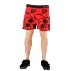 Red and Black Printed Beach Men's #Shorts