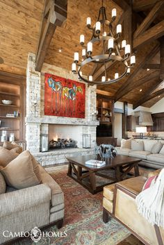 Stunning Custom Chandelier In This Park City Utah Home By Cameo Homes Inc
