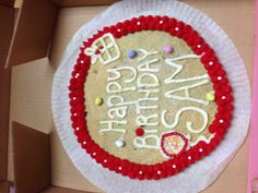 Red & white giant cookie