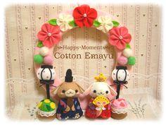 イメージ 1 Felt Diy, Felt Crafts, Mobiles, Japan Crafts, Felt Wreath, Toy Craft, Washing Clothes, Needle Felting, Baby Toys