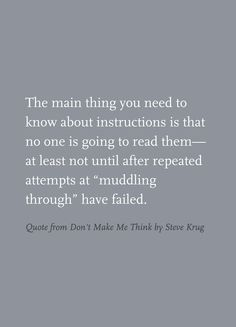 Quote from Don't Make Me Think by Steve Krug