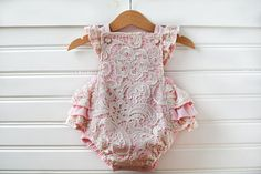 Baby Girl Romper  Baby Girl Birthday Outfit  Baby Girl