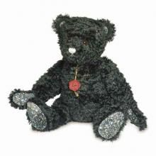 Crystal is a beautiful black mohair bear, made by Hermann Original, with swarovski crystal elements on her paw pads. She has a growler which is heard when she is gently rocked.