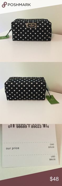 Kate Spade Cosmetic Bag - Medium Retail $68. Cosmetic Bag. Only one left so don't hesitate! Happy Poshing! kate spade Bags Cosmetic Bags & Cases