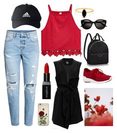 """""""be DIVA everywhere 🙌😚"""" by victoriaw568 ❤ liked on Polyvore featuring H&M, adidas, MICHAEL Michael Kors, SUGAR LIPS, Smashbox, GUINEVERE and Bing Bang"""