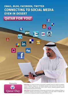 Poster designed for QatarDay.com