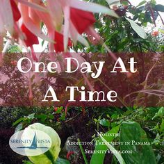 One day at a time is all anyone can do. Learn the tools for a healthy life with peace of mind. How now to pick up a drink or a drug, one day at a time. Holistic, 12 Step, Affordable, Healing in Panama. Learn more about private pay rehab serenityvista.com