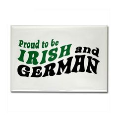 OMG that's me 100% Irish and German, way cool :)
