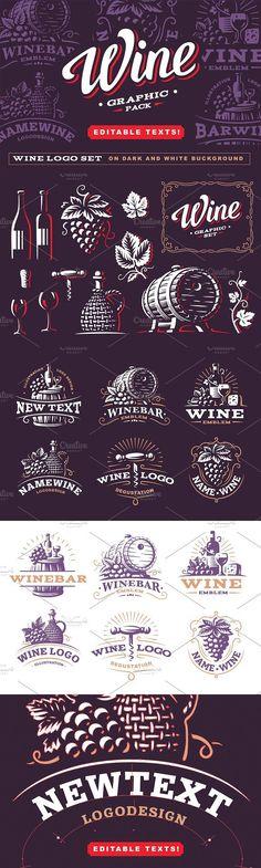 Wine graphic pack. Premium Icons