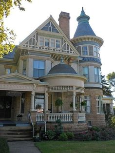 Queen Anne Beautiful House Victorian Architecture Dream House Dream